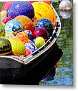 Niijima Floats Metal Print by Elizabeth Hart
