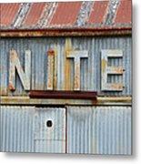 Nite Rusty Metal Sign Metal Print