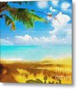 Nixo Landscape Beach Metal Print