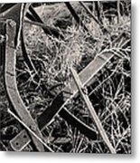 No More Plowing Metal Print