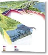 North American Geology And Oil Slick Metal Print by Gary Hincks