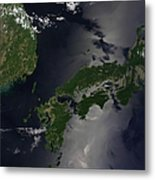 North And South Korea, And The Japanese Metal Print