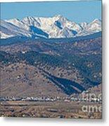 North Boulder Colorado Front Range View Metal Print