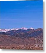 North Boulder County Colorado Full Moon View Metal Print
