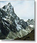 North Face Of Cholatse Peak Towers Metal Print