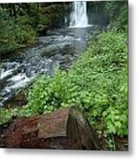 North Falls In Oregon Metal Print