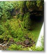 North Falls Waterfall Metal Print