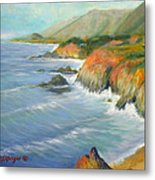 North Of Big Sur Metal Print by Max Mckenzie