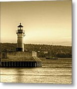 North Pier Lighthouse Metal Print