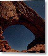 North Windows Arch Under Moonlight Metal Print