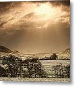 North Yorkshire, England Sun Shining Metal Print by John Short