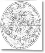 Northern Celestial Map Metal Print by Science, Industry & Business Librarynew York Public Library