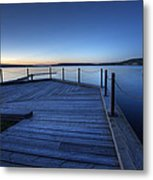 Northern Lake Evening Metal Print