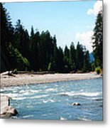 Northwest River Metal Print
