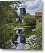 Norton Marsh Mill Norfolk Metal Print