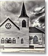 Norwegian Church Cardiff Bay Cream Metal Print