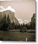 Nostalgic Yosemite Valley Metal Print