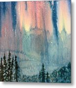 Nothern Lights Country Metal Print