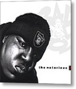 Notorious B.i.g Metal Print by Lee Appleby