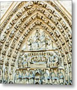 Notre Dame Cathedral Center Entry Metal Print