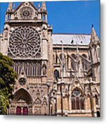 Notre Dame Cathedral Rose Window Metal Print
