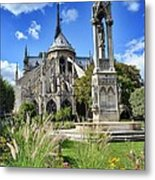 Notre Dame Gardens Metal Print