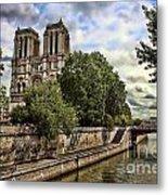 Notre Dame On The Seine Metal Print