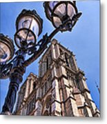 Notre Dame Tower Metal Print