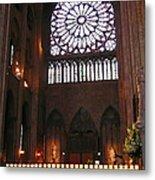 Notre Dame Votive Candles Metal Print