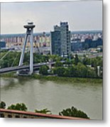 Novy Most Bridge - Bratislava Metal Print