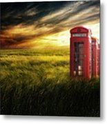 Now Home To The Red Telephone Box Metal Print by Lee-Anne Rafferty-Evans