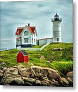 Nubble Lighthouse Metal Print by Tricia Marchlik