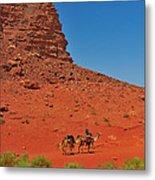 Nubian Camel Rider Metal Print