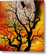 Nuclear Moonrise Metal Print