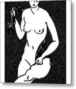 Nude Sketch 12 Metal Print