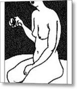 Nude Sketch 36 Metal Print