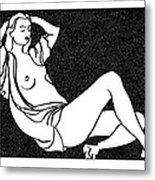 Nude Sketch 58 Metal Print