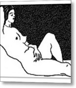 Nude Sketch 61 Metal Print by Leonid Petrushin