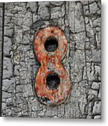 Number 8 And The Peeling Paint Metal Print