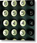 Numbers Game Metal Print