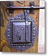 Nuremberg Castle Door Lock Metal Print
