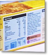 Nutrition Label Metal Print by Veronique Leplat