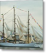 Nve Cisne Branco Passing By Fort Mchenry Metal Print