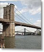 Ny Bridges 1 Metal Print by Art Ferrier