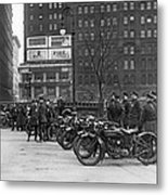 Ny Motorcycle Police Metal Print by Underwood Archives