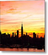 Ny Saturday Sunrise Metal Print