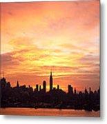 Ny Skyline -daybreak Splendor Metal Print