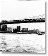 Nyc - Manhattan Bridge Metal Print
