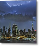 Nyc All Charged Up Metal Print