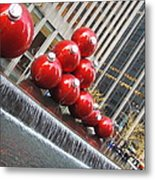 Nyc Christmas Metal Print